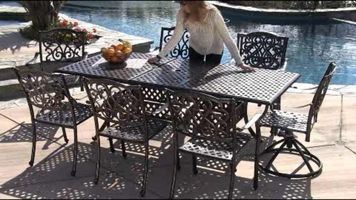 Lagos 9-piece Patio Dining Set - image 3 from the video