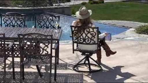 Lagos 9-piece Patio Dining Set - image 4 from the video
