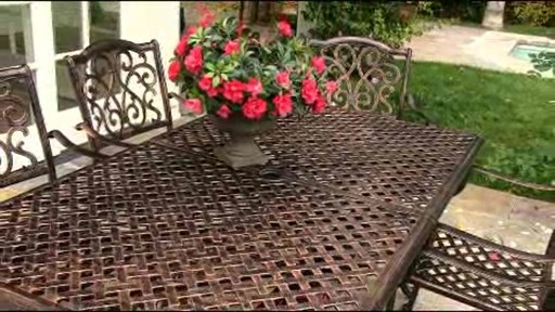 Lagos 9-piece Patio Dining Set - image 9 from the video