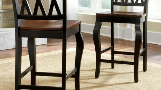 Roslyn 9 Piece Rectangle Counter Height Dining Set   Image 8 From The Video