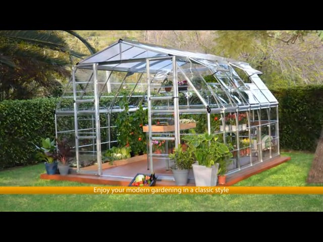 Palram Americana 12 x 12 Greenhouse with Premium Accessory Package