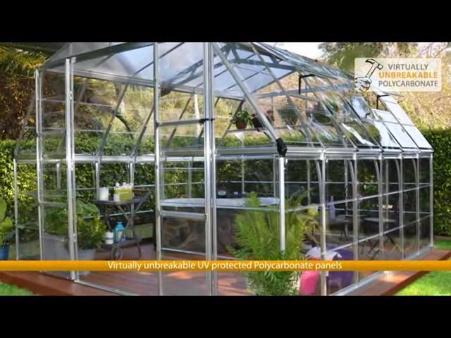 Palram Americana 12' x 12' Greenhouse with Premium Accessory