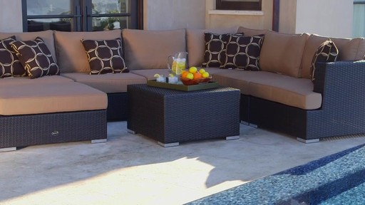 Niko 8-piece Patio Deep Seating Modular Sectional by Siriou2122 - image 2 from the video