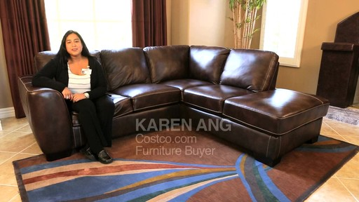 Lancaster Leather Sectional  - image 10 from the video