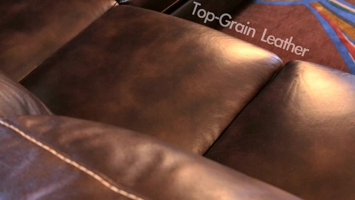 Lancaster Leather Sectional  - image 3 from the video
