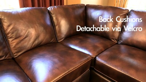 Lancaster Leather Sectional  - image 6 from the video