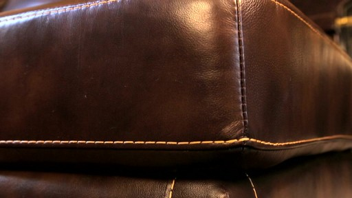 Lancaster Leather Sectional  - image 7 from the video