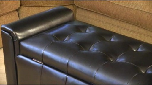 Pleasing Alden Bonded Leather Storage Bench Alphanode Cool Chair Designs And Ideas Alphanodeonline