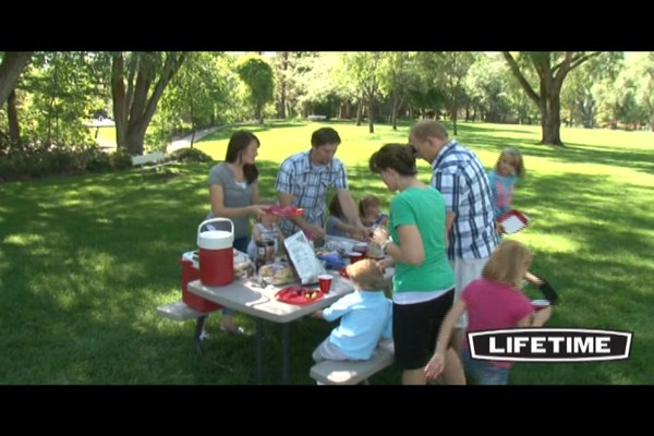 Lifetime 8 Folding Picnic Table 187 Video Gallery