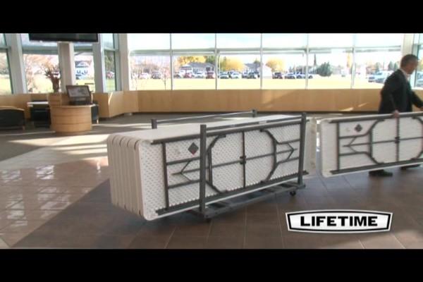 Lifetime 174 8 Rectangular Banquet Tables 21 Pk With Cart
