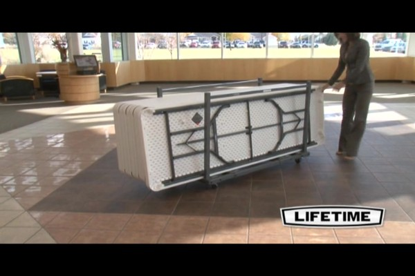 Lifetime 174 8 Rectangular Banquet Tables 21 Pk With Cart