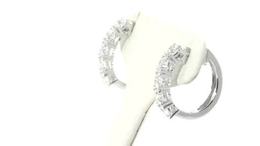 Diamond Hoop Earrings Image 2 From The Video