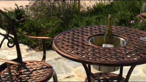Camden 3-piece Patio Bistro Set - image 10 from the video