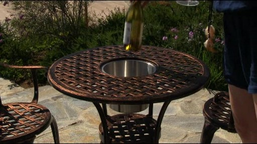 Camden 3 Piece Patio Bistro Set   Image 3 From The Video