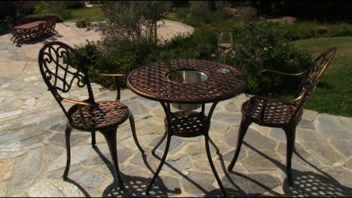 Camden 3-piece Patio Bistro Set - image 9 from the video