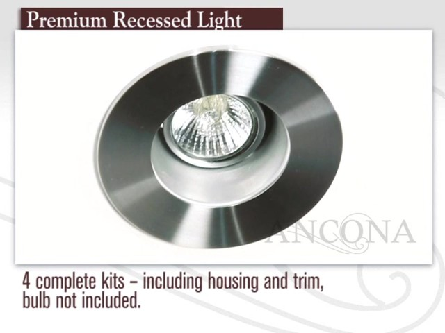 ancona premium recessed light with regressed socket image 1 from the. Black Bedroom Furniture Sets. Home Design Ideas
