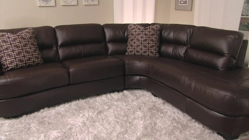 Nouveau Top Grain Leather Sectional - image 1 from the video