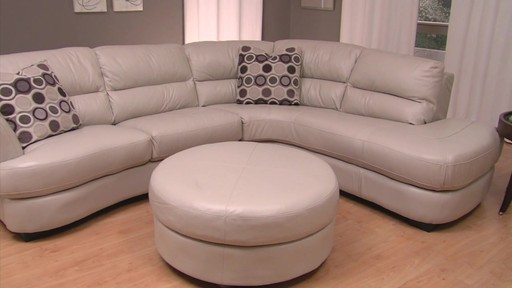 Nouveau Top Grain Leather Sectional - image 10 from the video