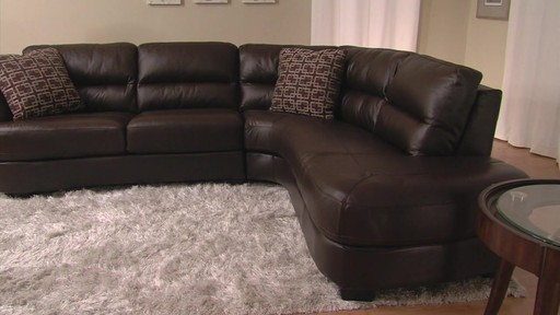 Nouveau Top Grain Leather Sectional - image 2 from the video