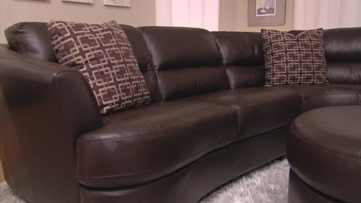 Nouveau Top Grain Leather Sectional - image 4 from the video