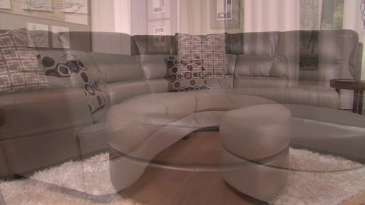 Nouveau Top Grain Leather Sectional - image 5 from the video