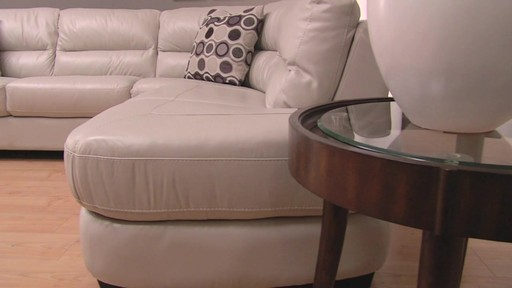 Nouveau Top Grain Leather Sectional - image 6 from the video