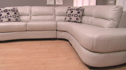 Nouveau Top Grain Leather Sectional - image 7 from the video