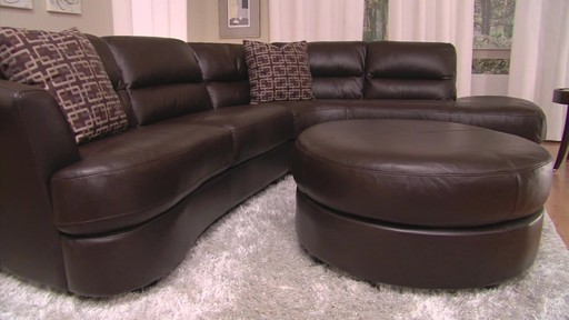 Nouveau Top Grain Leather Sectional - image 8 from the video