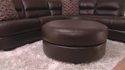 Nouveau Top Grain Leather Sectional - image 9 from the video