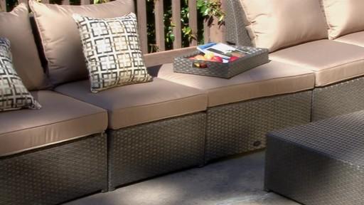 Hampton 6 Piece Patio Deep Seating Sectional By Sirio