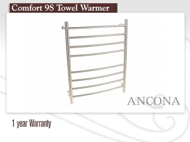 Ancona Comfort 9s Electric Towel Warmer And Drying Rack