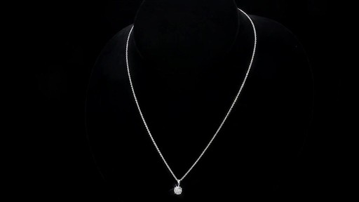 Round Brilliant Diamond Solitaire Necklace (1.00 ct) 18kt White Gold - image 10 from the video