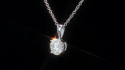 Round Brilliant Diamond Solitaire Necklace (1.00 ct) 18kt White Gold - image 5 from the video