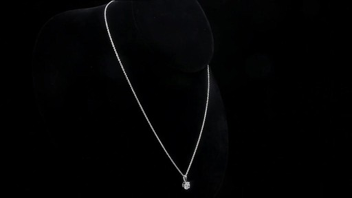Round Brilliant Diamond Solitaire Necklace (1.00 ct) 18kt White Gold - image 8 from the video