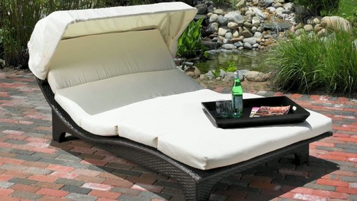 Miramare canopy chaise lounge mission hills video gallery for Chaise lounge costco