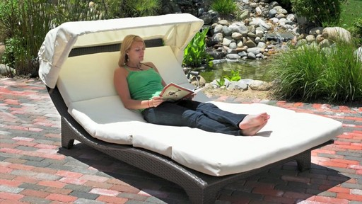 Miramare canopy chaise lounge mission hills video gallery for Canopy chaise lounge