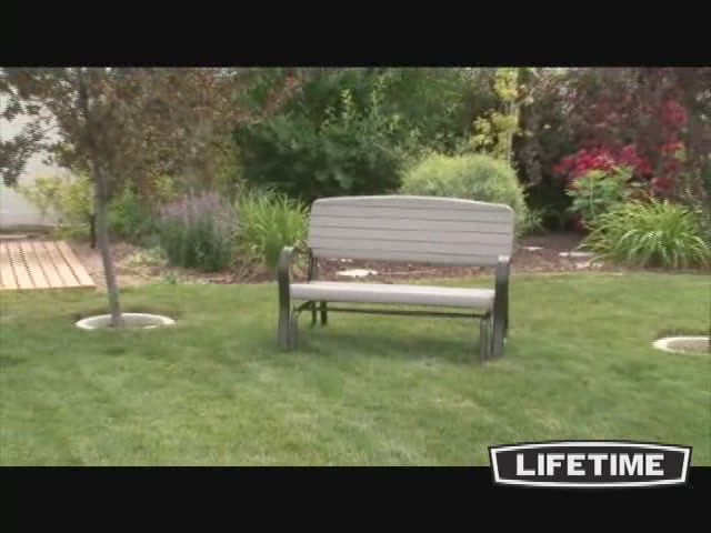 Glider Bench Lifetime Welcome To Costco Wholesale