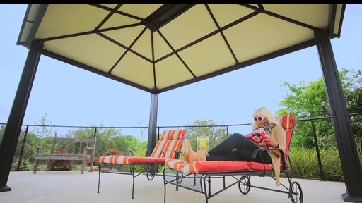 Santa Monica 10 X 13 Aluminum Roof Gazebo - image 1 from the video