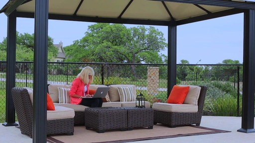 Santa Monica 10 X 13 Aluminum Roof Gazebo - image 2 from the video