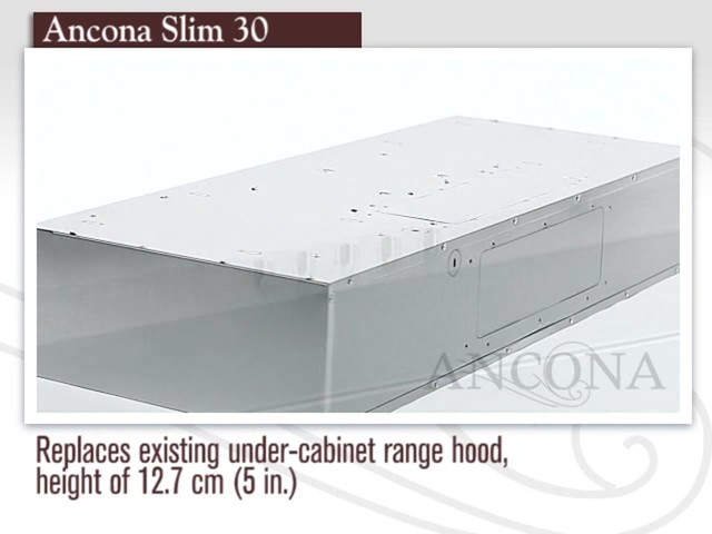 Ancona Slim Under Cabinet Range Hood   Image 2 From The Video
