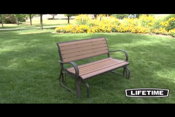 Lifetime Faux Wood Glider Bench Welcome To Costco Wholesale