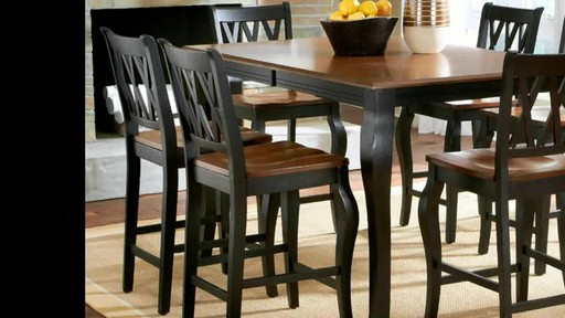 Roslyn 7 Piece Rectangle Counter Height Dining Set   Image 3 From The Video