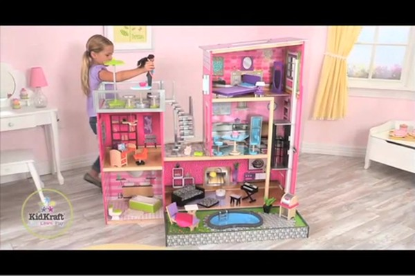 KidKraft Luxury Uptown Mansion Dollhouse, 35-pc of Furniture - image 1 from the video