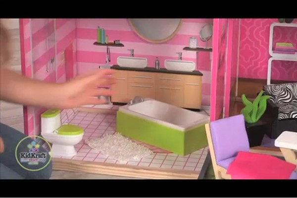 KidKraft Luxury Uptown Mansion Dollhouse, 35-pc of Furniture - image 3 from the video