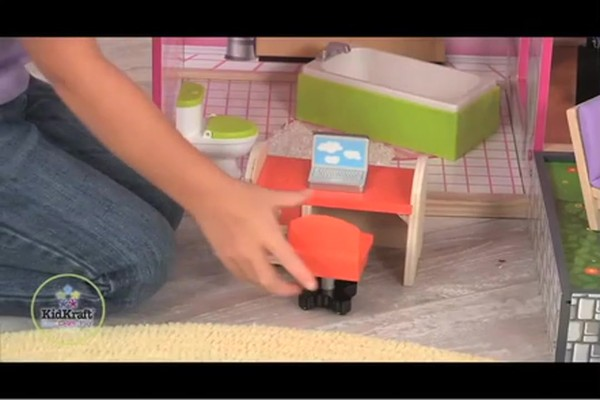 KidKraft Luxury Uptown Mansion Dollhouse, 35-pc of Furniture - image 4 from the video