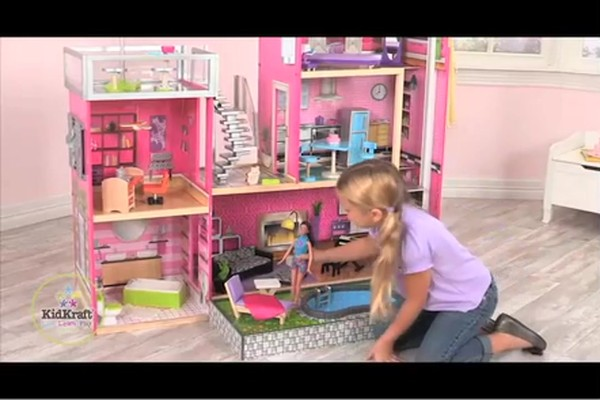 KidKraft Luxury Uptown Mansion Dollhouse, 35-pc of Furniture - image 9 from the video