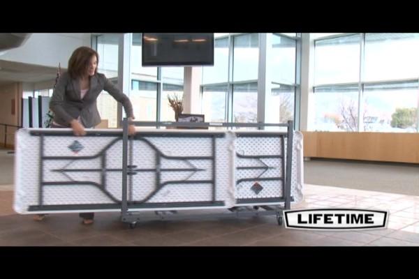 Lifetime 174 6 Rectangular Banquet Tables 22 Pk With Cart