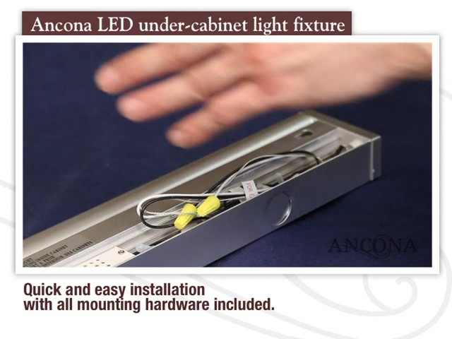 ancona led under cabinet light fixture welcome to costco wholesale. Black Bedroom Furniture Sets. Home Design Ideas