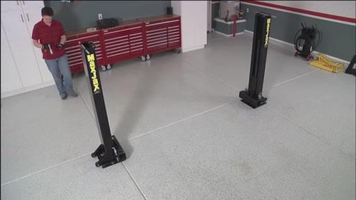 Movable Two Post Lift : Maxjax post portable auto lift dannmar automotive
