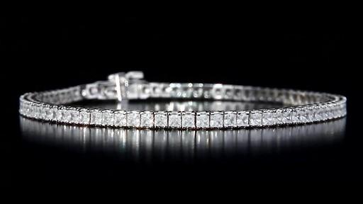 Princess Cut Diamond Tennis Bracelet Video Gallery